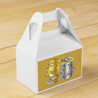 Máscaras del drama de la tragedia y de la comedia cajas para regalos