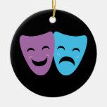 Máscaras del drama ornamento de navidad