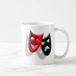 Máscaras del drama taza de café