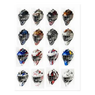 Máscaras del hockey postales