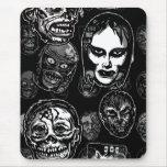 Máscaras del monstruo de la película de terror (b& alfombrilla de raton