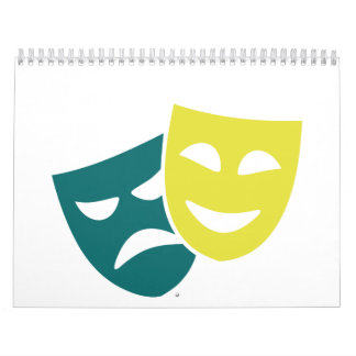 Máscaras del teatro calendarios de pared