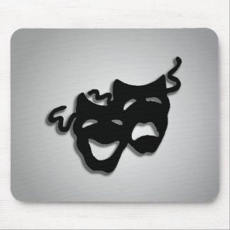 Máscaras del teatro de la comedia y de la tragedia alfombrillas de raton
