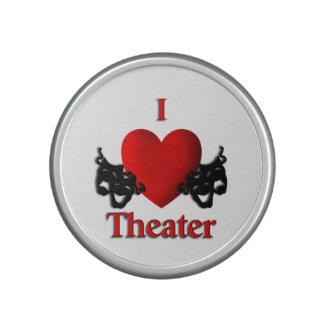 Máscaras del teatro de la comedia y de la tragedia altavoz