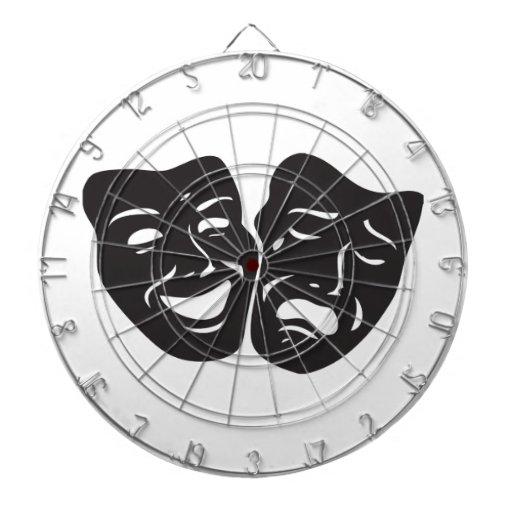 Máscaras del teatro del drama de la tragedia de la
