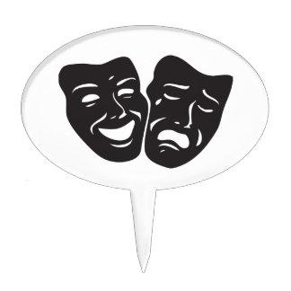 Máscaras del teatro del drama de la tragedia de la decoraciones para tartas