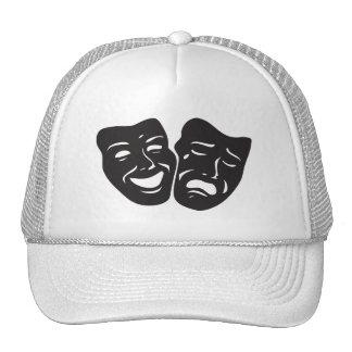 Máscaras del teatro del drama de la tragedia de la gorro de camionero