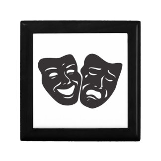 Máscaras del teatro del drama de la tragedia de la caja de regalo