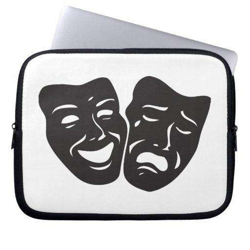 Máscaras del teatro del drama de la tragedia de la mangas portátiles