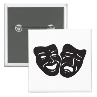 Máscaras del teatro del drama de la tragedia de la pins