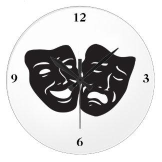 Máscaras del teatro del drama de la tragedia de la reloj
