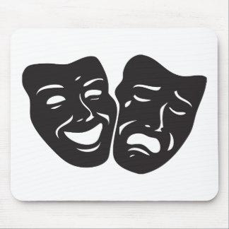Máscaras del teatro del drama de la tragedia de la tapetes de raton