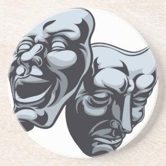 Máscaras del teatro del teatro posavasos personalizados