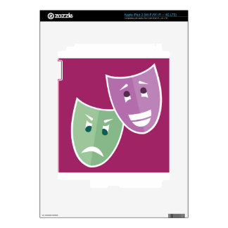 Máscaras del teatro pegatinas skins para iPad 3