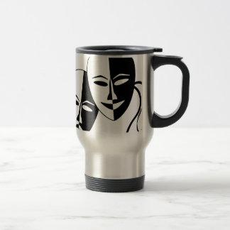 Máscaras del teatro taza térmica