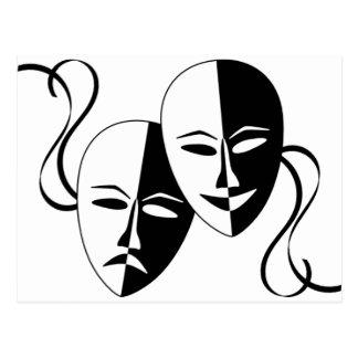 Máscaras del Thespian Postales