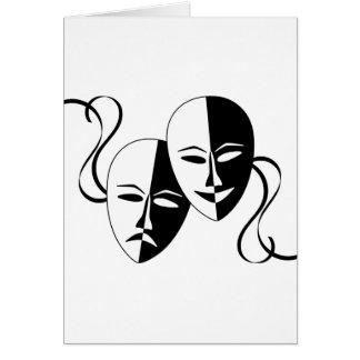 Máscaras del Thespian Tarjeta De Felicitación
