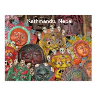 Máscaras en Boudhanath Postal