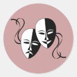 Máscaras Etiqueta Redonda