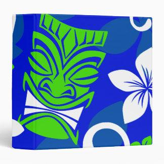 """Máscaras florales de Tiki de la isla azul Carpeta 1 1/2"""""""