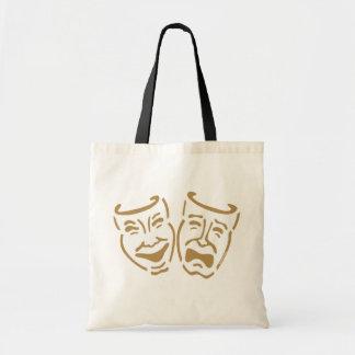Máscaras simples del drama bolsa de mano