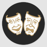 Máscaras simples del drama etiquetas