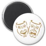 Máscaras simples del drama imanes para frigoríficos