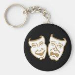 Máscaras simples del drama llaveros personalizados