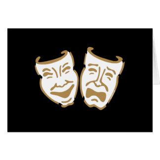 Máscaras simples del drama tarjeta de felicitación