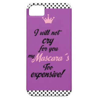 Mascara's too expensive iPhone SE/5/5s case