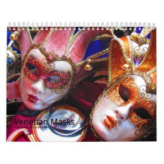 Máscaras venecianas calendario de pared