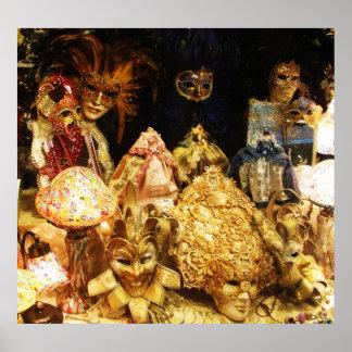 Máscaras venecianas del carnaval - POSTER de Venec