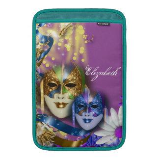 Máscaras venecianas del quinceanera de la funda  MacBook