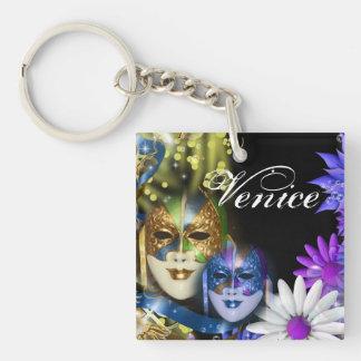 Máscaras venecianas del quinceanera de la llaveros