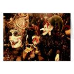 Máscaras venecianas felicitacion
