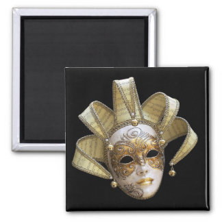 Máscaras venecianas imán cuadrado