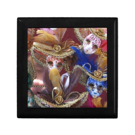 máscaras venecianas miniatura caja de regalo