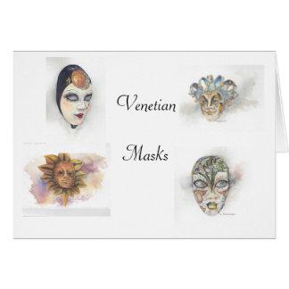 Máscaras venecianas Notecards de Maria Dunham Walt