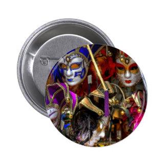Máscaras venecianas pin redondo de 2 pulgadas