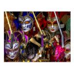 Máscaras venecianas postal