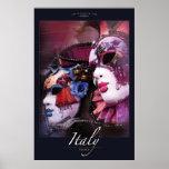 Máscaras venecianas posters
