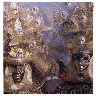 Máscaras venecianas servilletas de papel