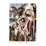 Máscaras venecianas tarjeta postal