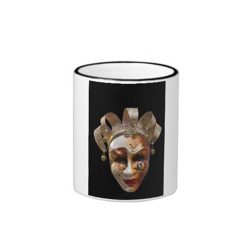 Máscaras venecianas taza a dos colores