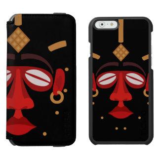 Mascarilla india africana nativa funda billetera para iPhone 6 watson