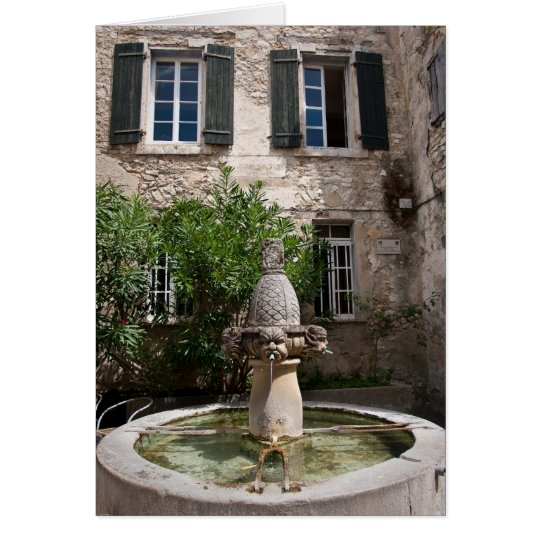 Mascarons Fountain Card