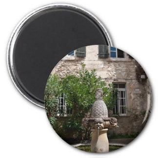 Mascarons Fountain Magnet