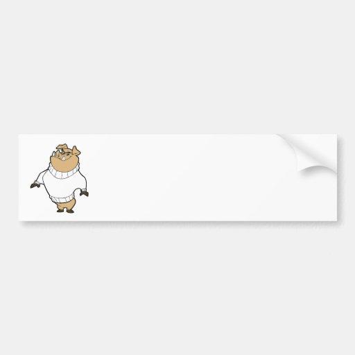 Mascot - Hog White Bumper Stickers