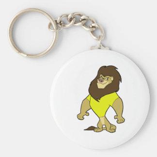 Mascot - Lion Yellow Basic Round Button Keychain