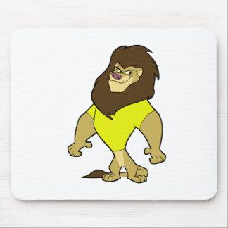 Mascot - Lion Yellow Mouse Pad